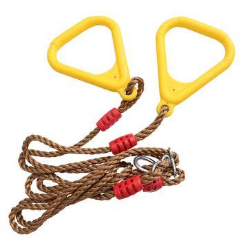 1 para dzieci Fitness kółko do ćwiczeń bezpieczne kryty Pull-up pierścienie treningowe uchwyty treningowe tanie i dobre opinie CN (pochodzenie) Domki Drewna Training Rings