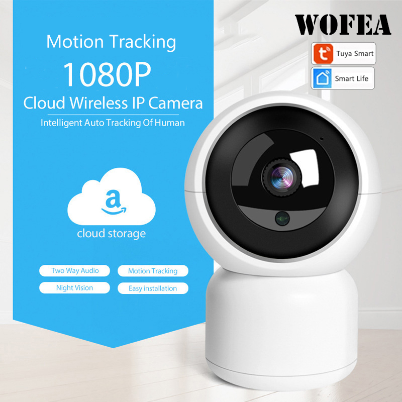 WOFEA Tuya 1080P 2MP IP Camera Wireless Surveillance HD CCTV Camera Home Security Wifi Camera Babby Monitor P2P Night Vision