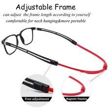 Libogx portátil absorção magnética pendurar um pescoço óculos de leitura homem ímã óculos de leitura feminino diopter + 2.00 + 2.50