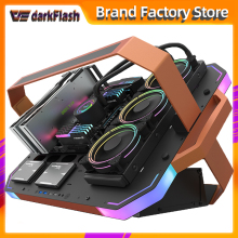 Aigo Darkflash Bladex Open Frame Luxe Gaming Desktop Computer Case Gabinete Pc Gamer Completo Atx Chassis Argb Verlichting Pc Case