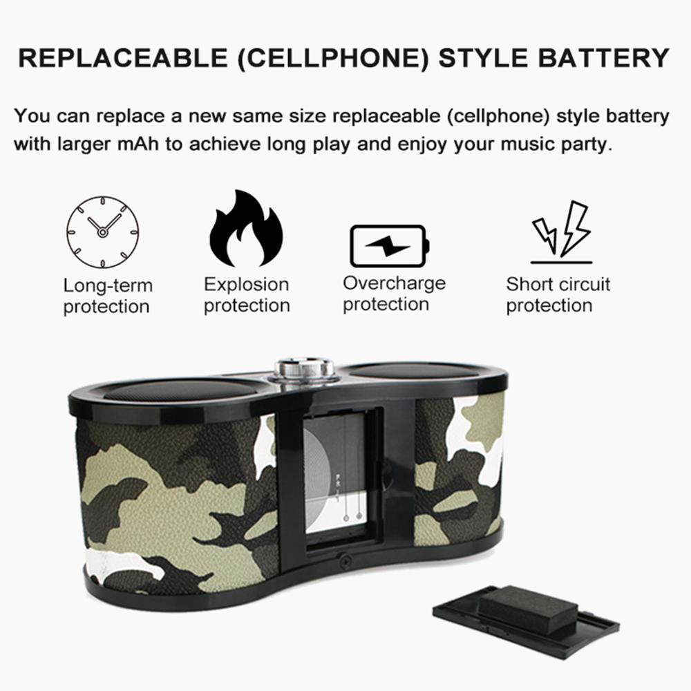 Image 5 - Retekess V113 FM Radio Stereo Digital Radio Receiver Speaker USB Disk TF Card MP3 Music Player Camouflage + Remote Control-in Radio from Consumer Electronics