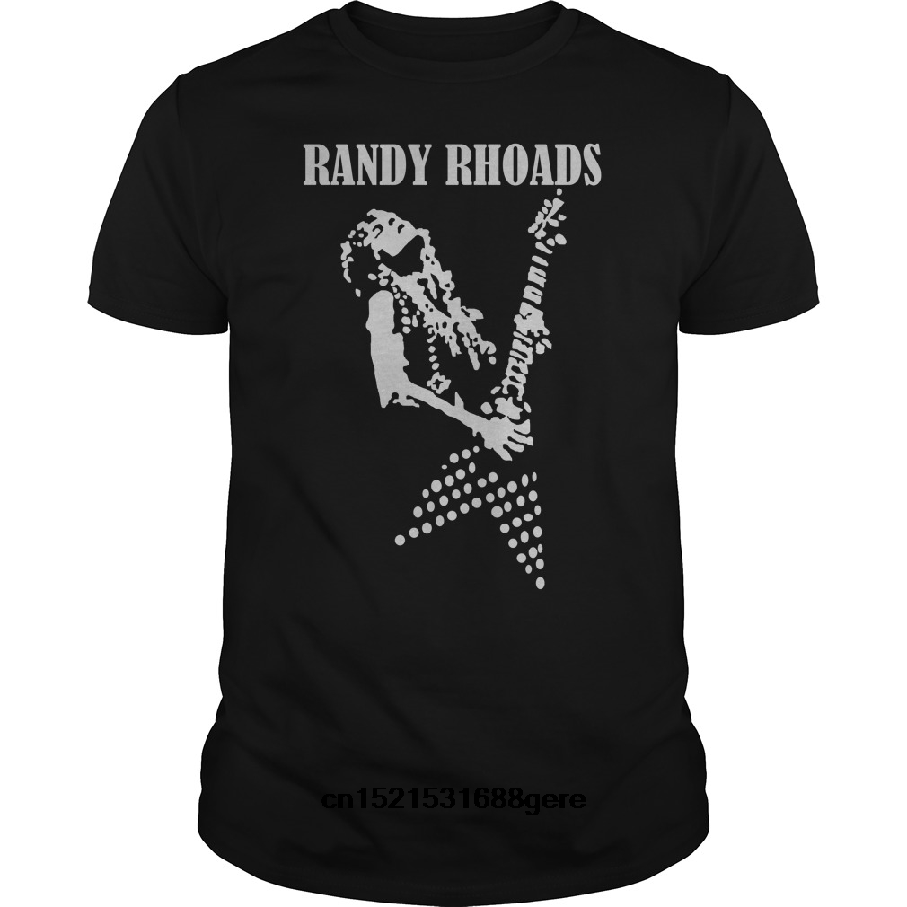 2020 fashion brand t shirt funny t shirt Guitar Legend <font><b>Randy</b></font> <font><b>Rhoads</b></font> tshirt men tee image