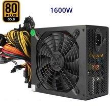 PC Sever ATX Power Supply 1600W 80 Gold Altcoin Crypto Coin PSU Mining Rig GPU For GTX1080 1060 RX470 480 570 Eth ETC BTC XMR A printio crypto