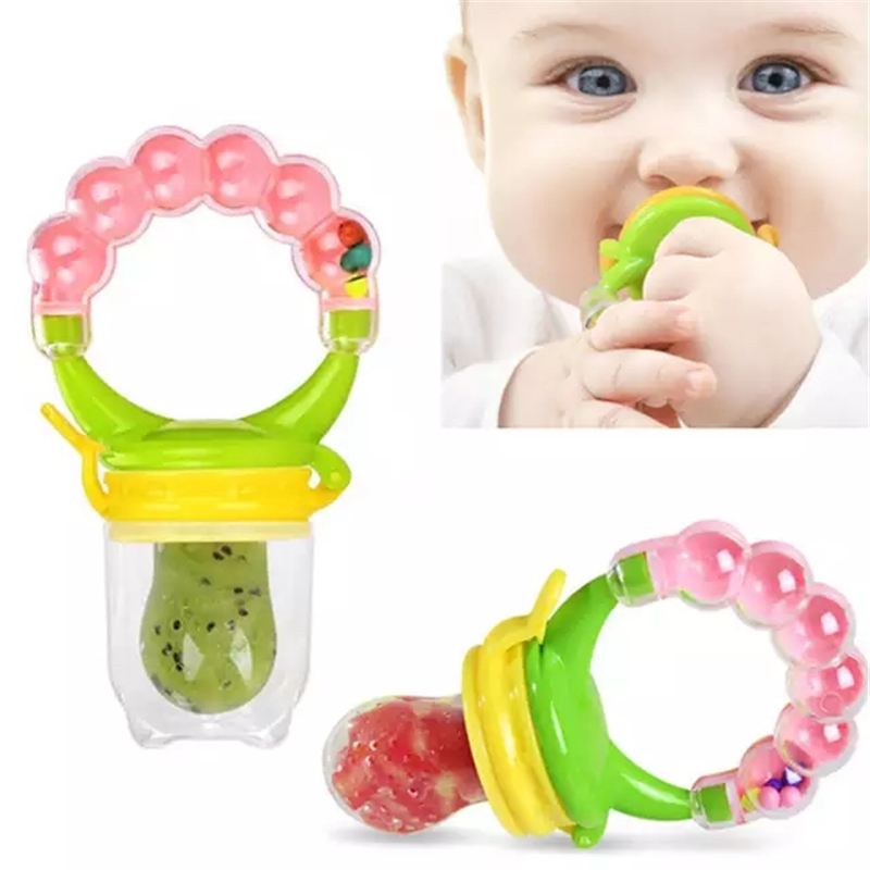 Baby Fresh Food Feeder Safety Infant Pacifiers Fresh Fruit Nibbler Rotating Mills Chew Fruit Nipples Grinder Feeding Toys