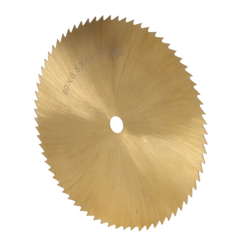 70/80mm HSS TI-coated Circular Saw Blade Metal Woodworking Plastic Cutting 6mm