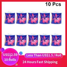 10 Rolls Three Layer Toilet Tissue Home Bath Toilet Roll Paper Silky Smooth Soft Toilet Paper Skin-friendly Paper Towels
