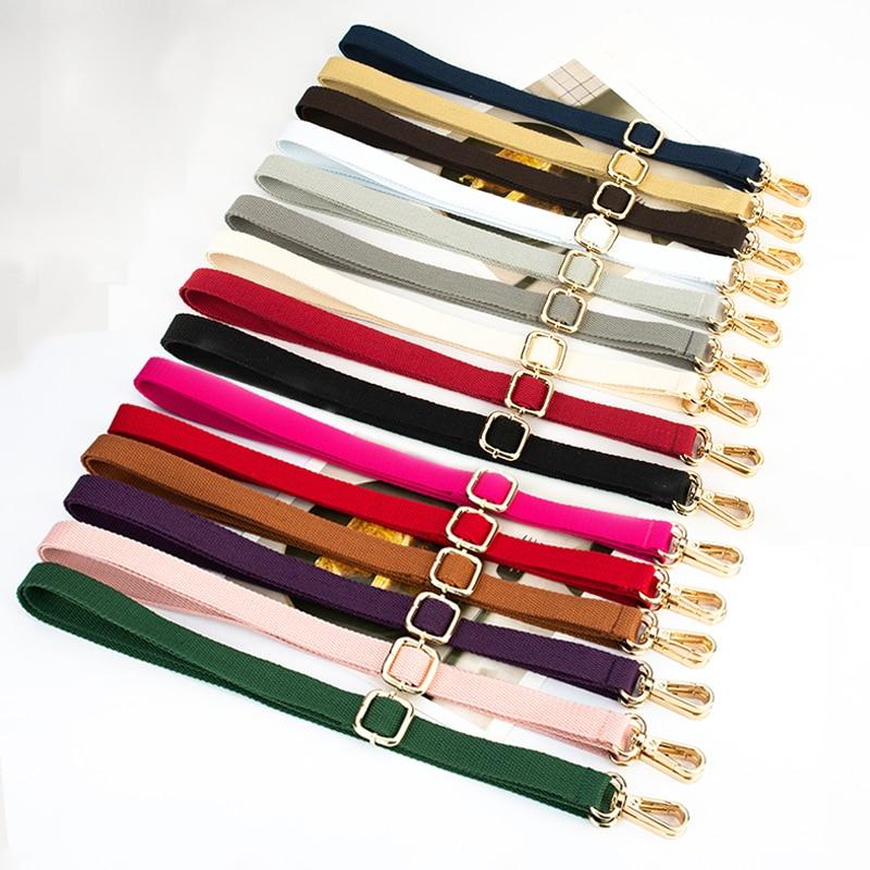 20 Colors! Diy 140cm Adjustable Shoulder Bag Straps 2cm Width Replacement Cotton Bag Belts, Handles For Small Handbags, Purses