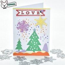 Naifumodo Christmas Cutting Dies Metal Hometown Deer Snowman Snowflake Die Scrapbooking Album Embossing Stencil  Diecut