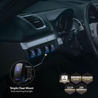 12 v carro rocker switch trabalho nevoeiro condução barra de luz 5 pinos on/off rocker switch fácil instalar segurança