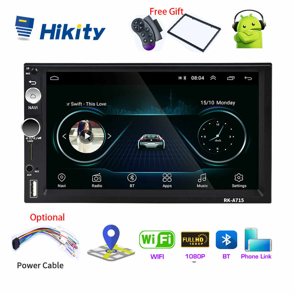 Hikity 2 Din Andriod 8.1 Auto Multimedia Speler 7 Inch Universele Gps Navigatie Bluetooth Auto Audio Wifi Usb Fm Mirrorlink radio