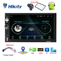Hikity 2 Din Andriod 8.1 Car Multimedia Player 7 Inch Universal GPS Navigation Bluetooth Car Audio Wifi USB FM MirrorLink Radio