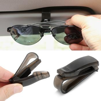Samochód etui na okulary uchwyt okulary klip akcesoria samochodowe dla Kia rio ceed sportage cerato dusza hyundai creta elantra i30 hb20 tanie i dobre opinie CN (pochodzenie) TWORZYWA SZTUCZNE Zapięcia i klipsem For sun visor mounting 1* Car Visor Glasses Sunglasses Ticket Clip Holder