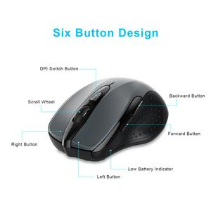 Image 5 - TeckNet 2.4Ghz Wireless Mouse Computer Mouse with USB Receiver Mause 2600DPI Optical Ergonomic Mice for Laptop Desktop PC