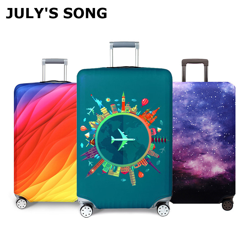 Luggage Cover Protective Washable Suitcase Protector Cover Travel Elastic Spandex Baggage Protector LED Balloon Drop Water Fit 18 To 32 Inch