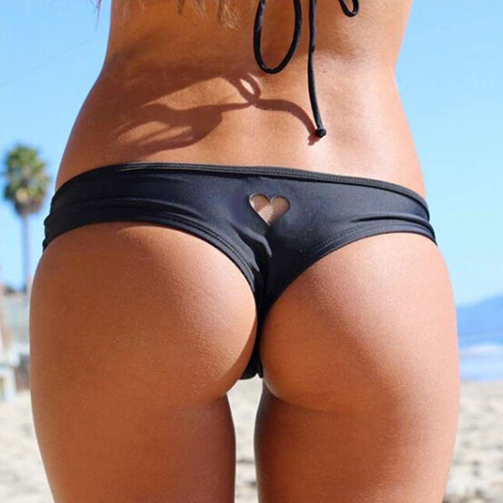 2020 Hot Sale New Women Girl Brazilian Sexy Bikini Swimwear Thong Love Heart Cut Out Bottom Beachwear New Arrival
