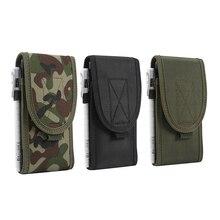Nova Bolsa de Telefone Universal Coldre Saco Da Cintura Exército Militar Tático nylon cinto Para SAMSUNG Para o iphone para o iphone 12 pro caso max