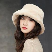Рыбацкая шапка женская осенняя и зимняя плюшевая шляпа Корейская