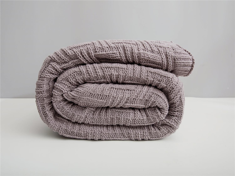 Повседневное одеяло для отдыха в офисе, Кашемировое Двухслойное вязаное одеяло для украшения дома, Женское зимнее теплое бежевое одеяло для дивана - 6