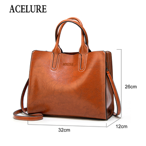 Image 2 - ACELURE Women Shoulder Bag Female Causal Totes for Daily Shopping All Purpose High Quality Dames Handbag Leather Bags for Women