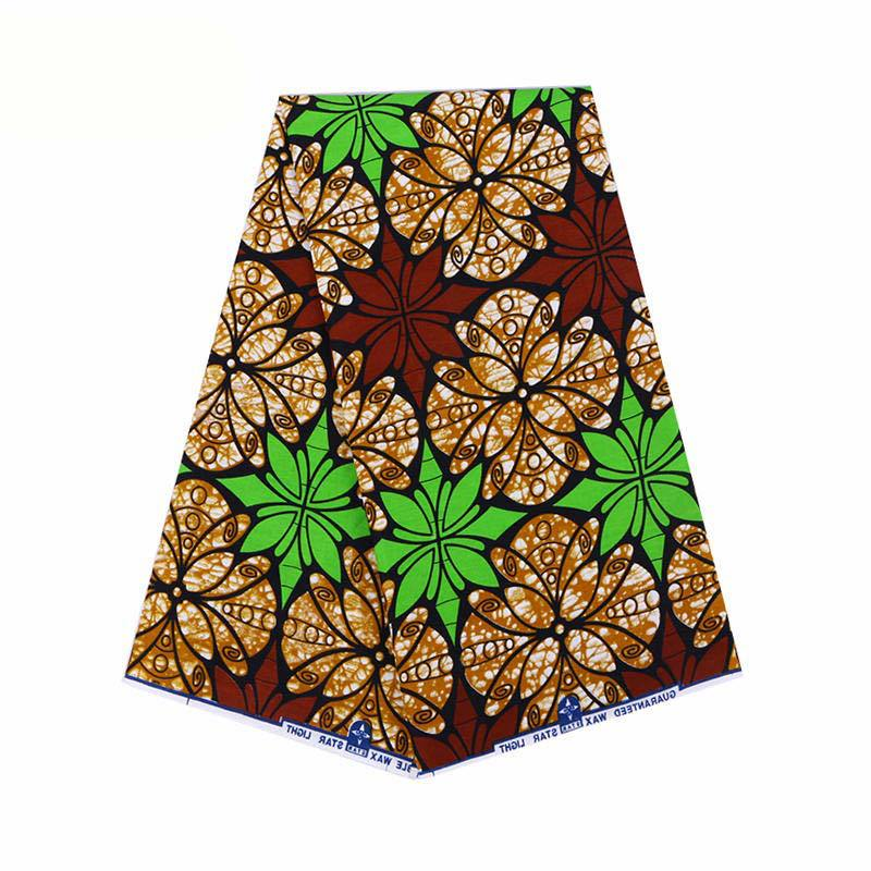 2019 Latest Arrivals 100% Cotton African Print Wax Fabric Pagnes African Real Dutch Wax 6Yard