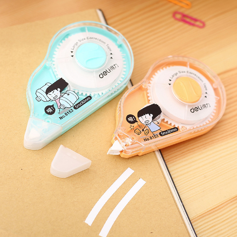Deli 8153 Correction Tape GIRL'S Series Correction Tape Corretion Pen/fluid Correction Tape Students Stationery Cute