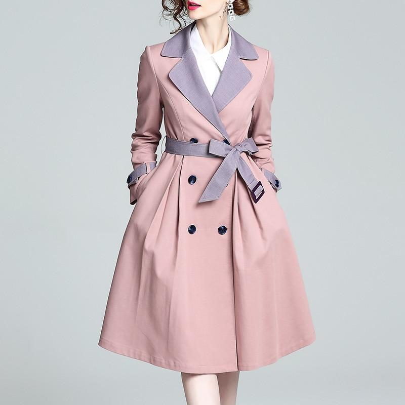 Double Breasted Women Windbreaker Korean Fashion Belt   Trench   Coat For Women Coats Casual Windbreakers Casacos Femininos Overcoat