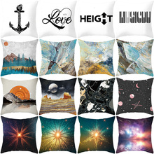 купить 45x45cm Letter Pattern Printing Home Cushion Covers Textile Cotton Linen Pillow Cover Sofa Bed Decorative Pillow Case Almofadas дешево