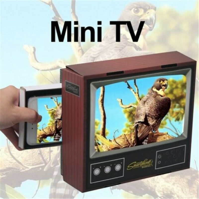 1PC Retro TV Smart Phone Magnifier Portable Mobile Phone Screen Video Amplifier Stand Holder Party Favors