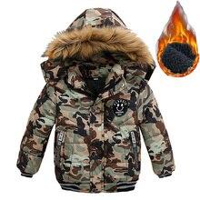 Осенне зимняя куртка с искусственным мехом для маленьких мальчиков детская теплая шерстяная Верхняя одежда с капюшоном, пальто для мальчиков, одежда, От 2 до 5 лет