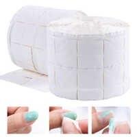 500 Uds./rollo de toallitas de algodón para uñas UV puntas uñas de gel removedor limpiador de pelusas almohadilla de papel remojo arte de uñas herramienta de limpieza de manicura LA918