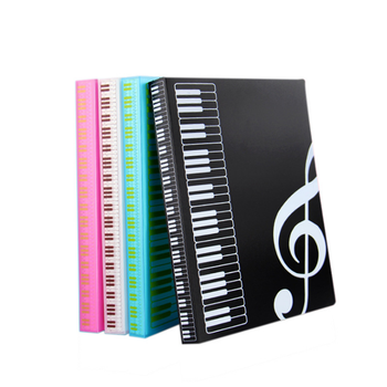 40/80 pages Multi-layer waterproof music folder file plastic data bag Filing Products document bag A4 piano score book folder
