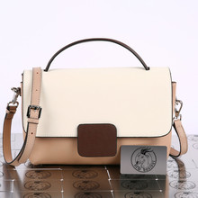 Bag Handbag Shoulder-Bag Natural-Cowhide Large-Capacity Fashion New-Arrival Panelled