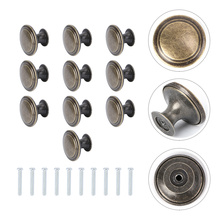 10Pcs Retro Style Drawer Handle Knob Single Hole Handle Door Handle