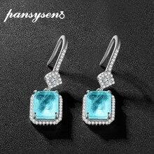 PANSYSEN-pendientes de piedras preciosas de turmalina para mujer, Plata de Ley 925 auténtica, pendientes en caída hechos a mano, joyería de compromiso para novia