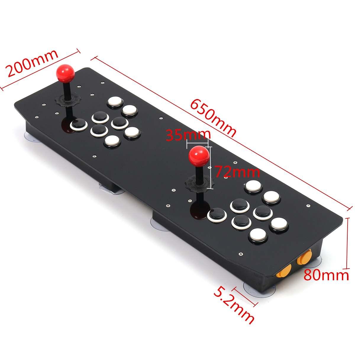 Double bâton d'arcade jeu vidéo manette contrôleur Console PC USB 2 joueurs ordinateur Machine de jeu vidéo jeu accessoires de jeu - 2