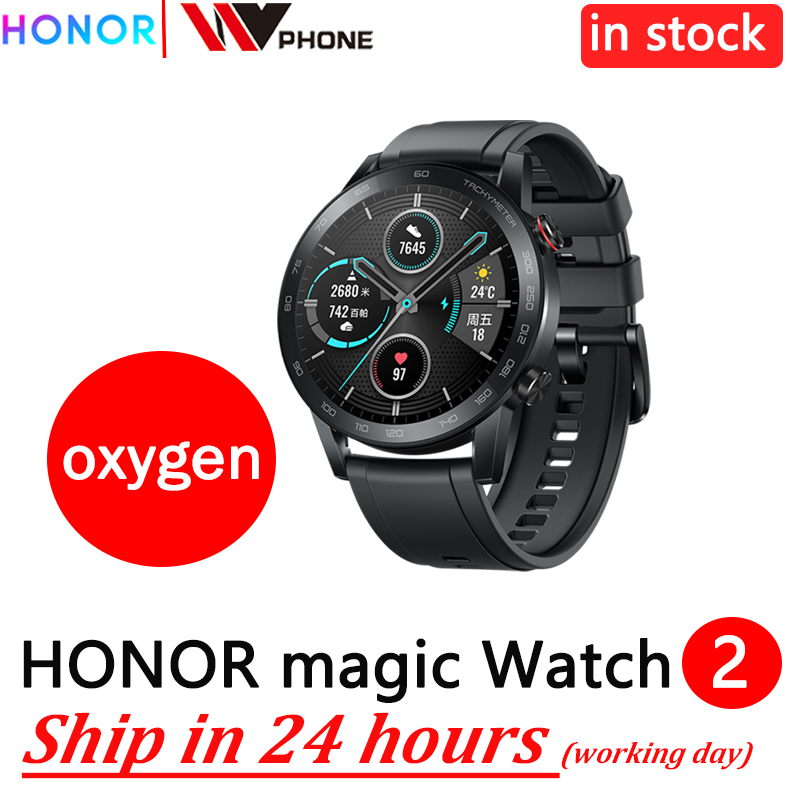 Honor Magic Watch 2 Magic 2 Smart Watch Blood Oxygen Tracker Spo2 Phone Call Heart Rate Tracker For Android IOS
