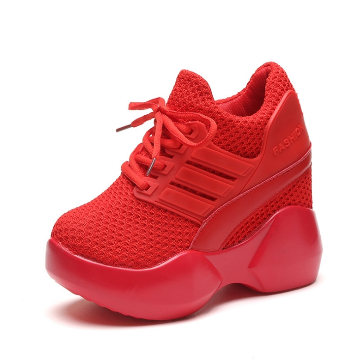 2019 Sports Shoes New Wild Spring Korean Students Mesh Shoes Increased Women's Shoes Thick-soled Travel Shoes
