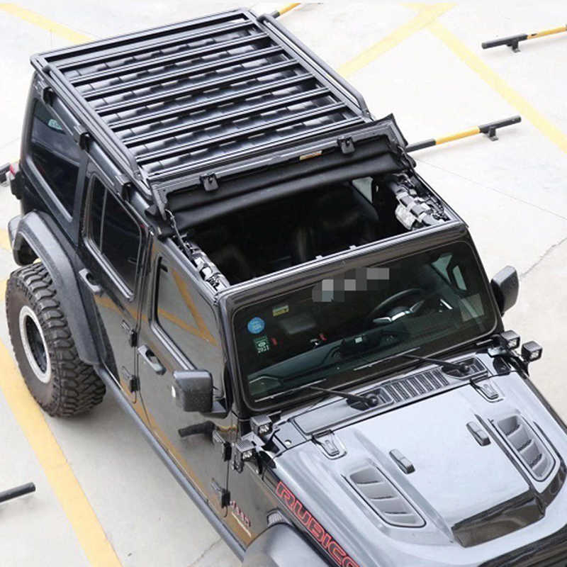 roof rack for jeep wrangler jl 2018 jl1187 luggage rack cargo with extension top luggage holder carrier lantsun