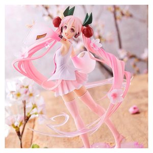 2020 new 23cm Anime Miku Hatsune Pink Sakura ghost Miku PVC Action Figures Girls Model Toys Collecting gifts for girls