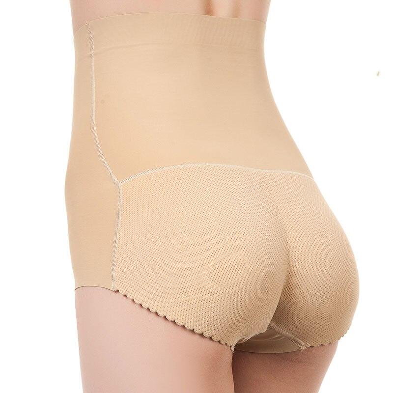 New Women Body Shaping High Waist Seamless Boxer Hips Seamless Slimming Tummy Solid Color Body Shaper Fake Ass Butt Lift Briefs