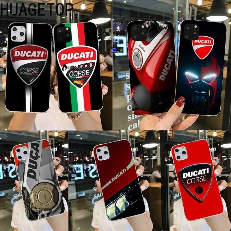 Ducati – coque de téléphone client pour iphone, pour modèles 12 pro max, 11 pro, XS MAX, 8, 7, 6, 6S Plus, X, 5s, SE 2020, XR