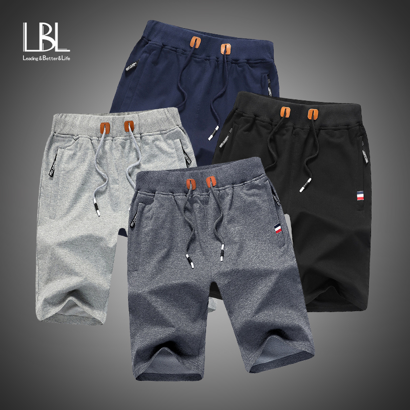 2020 Men Shorts Summer Solid Mens Casual Shorts Beach Boardshorts Slim Cotton Male Homme Short Trousers Brand Bermuda Masculina