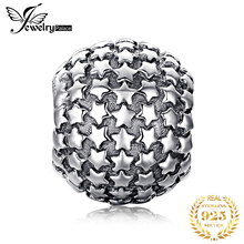 JewelryPalace Vintage 925 Sterling Silver Pave Star Charm Beads Fit Bracelets New Hot Sale For Women As Beautiful Gifts