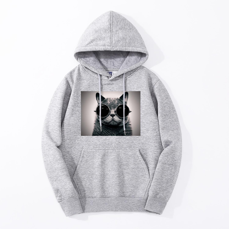 Hoodies For Men Cats Kawaii Hoody Fashion Casual Hooded Tracksuit Mens Fitness Harajuku Gym Sweatshirt Hip Hop Cat Animal Hoodie