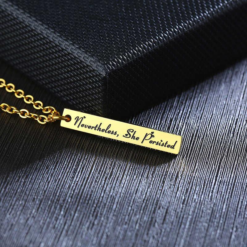 Vnox barra vertical colares para mulher bff pingentes de aço inoxidável melhor amigo presente aniversário com corrente ajustável