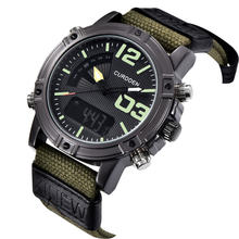 Часы хронограф мужские с нейлоновым ремешком 3005