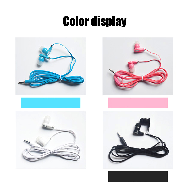 3.5mm In-Ear Wired Noodle Earphones 1.2m Portable Earpiece for Samsung Xiaomi HuaWei Cell Phone