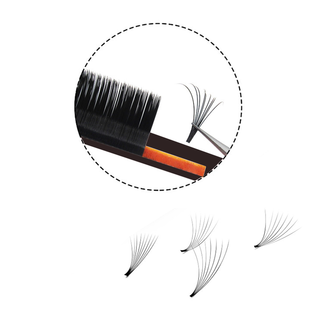 MASSCAKU Easy Fanning Volume Mega Eyelashes Extension Auto Flowering Rapid blooming fans lashes Fast Delivery 3