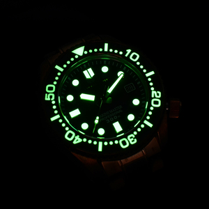 Image 5 - סן מרטין ברונזה צלילה שעון עסקי קלאסיקות אוטומטי גברים מכאני שעונים עור 300m מים עמיד זוהר Relojes