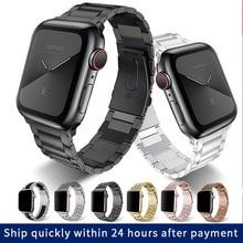 цена на Stainless Steel Strap for Apple Watch Band 38mm 40mm 42mm 44mm Metal Links Bracelet Apple iWatch Series 1 2 3 4 5